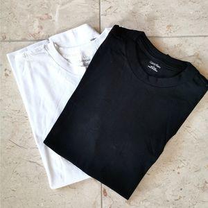 Mens 2 Calvin Klein t-shirts black white sz M